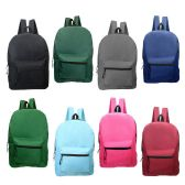 "24 Units of 17"" Kids Backpacks in 8 Assorted Colors - Backpacks 17"""