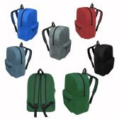"48 Units of 17"" Kids Basic Backpacks In 6 Assorted Colors - Backpacks 17"""