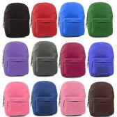 "24 Units of 17"" Classic Kids Backpacks in 12 Assorted Colors - Backpacks 17"""