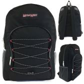 "24 Units of 19"" Black Bungee Design Backpack - Backpacks 18"" or Larger"