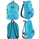 "24 Units of 16.5"" Kids Track Backpacks In Light Blue - Backpacks 16"""