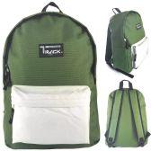 "24 Units of 16.5"" Kids Track Backpacks in Olive Green - Backpacks 16"""