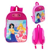"24 Units of 13"" Character Backpacks in a Multi-Color Junior Elf Princess Print - Backpacks 15"" or Less"