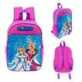 "24 Units of 13"" Character Backpacks in a Multi-Color Snow Queen Print - Backpacks 15"" or Less"