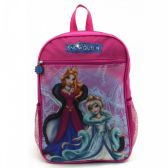 "24 Units of 15"" Character Backpacks in a Multi-color Snow Qeen Print - Backpacks 15"" or Less"