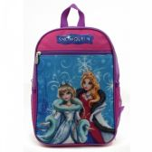 "24 Units of 15"" Character Backpacks in a Multi-Color Snow Queen Print - Backpacks 15"" or Less"