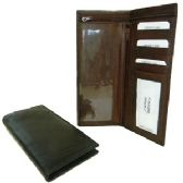 12 Units of COWHIDE LEATHER CHECKBOOK - BLACK COLOR ONLY - Wallets