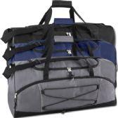 24 Units of Trailmaker 26 Inch Bungee Duffel Bag - Duffle Bags