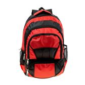 "24 Units of 19"" Adult Padded Backpack in a Black/Red Color - Backpacks 18"" or Larger"