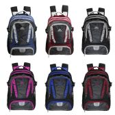 "24 Units of 18"" Backpack with Laptop Sleeve in 6 Assorted Color Variations - Backpacks 18"" or Larger"