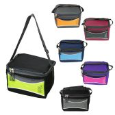 24 Units of Insulated 6 Can Cooler Lunch Bag in 6 Assorted Colors - Lunch Bags & Accessories