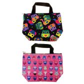 24 Units of Insulated Lunch Tote in 2 Assorted Owl Prints - Lunch Bags & Accessories