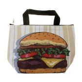 24 Units of Insulated Lunch Tote in Hamburger Print - Lunch Bags & Accessories