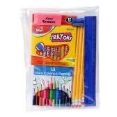 48 Units of 11 piece Kids School Supplies Kit - Notebooks