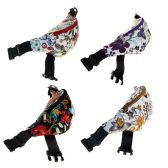 24 Units of Fanny Packs in 4 Assorted Flower Prints - Fanny Pack