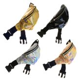 24 Units of Fanny Packs in 4 Assorted Iridescent/Holographic Colors - Fanny Pack