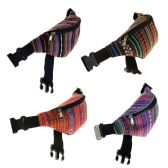 24 Units of Fanny Packs in 4 Assorted Guatemalan Prints - Fanny Pack