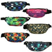24 Units of Fanny Pack Belt Bags in 6 Assorted Prints - Fanny Pack