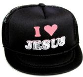 """24 Units of Infant mesh back printed hat, """"I LOVE JESUS"""", assorted colors - Baby Apparel"""