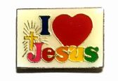 "96 Units of Brass Hat Pin, ""I (love) Jesus"" - Hat Pins & Jacket Pins"