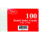 """72 Units of 3"""" x 5"""" Ruled Index Cards - 100 Count - Office Supplies"""