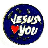 """96 Units of Brass Hat Pin, """"Jesus (loves) You - Hat Pins / Jacket Pins"""