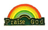 "96 Units of Brass Hat Pin, ""Praise God"" rainbow - Hat Pins & Jacket Pins"