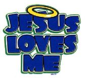 """24 Units of """"Jesus Loves Me"""" - White T-Shirt - Baby Apparel"""
