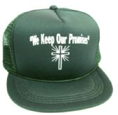"48 Units of Youth mesh back printed hat, ""WE KEEP OUR PROMISES"", assorted colors - Kids Baseball Caps"