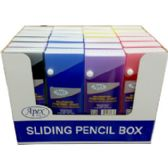 48 Units of Pencil Box - Assorted 5 Colors - Sliding cover - Pencil Boxes & Pouches