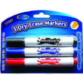 24 Units of Dry Erase Markers - Assorted Colors - 3 pack - MARKERS/HIGHLIGHTERS