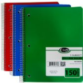 36 Units of 5 Subject College Ruled Wire Notebook - Notebooks