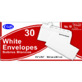 24 Units of Self Seal Envelopes - 30 count - # 10 - Office Supplies