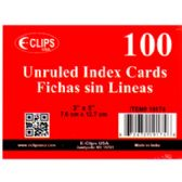 "72 Units of Index Cards - Unruled - 3"" x 5"" - 100 ct - Sheet protector"