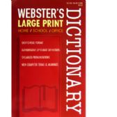 72 Units of Webster's Large Print Dictionary - 516 pages - Crosswords, Dictionaries, Puzzle books
