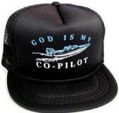 """48 Units of Youth mesh back printed hat, """"GOD IS MY CO-PILOT"""", assorted colors - Kids Baseball Caps"""