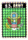 96 Units of Decal, United States Army - Stickers