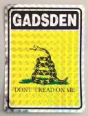 "96 Units of 3"" x 4"" decal, Gadsden - ""Dont Tread On Me - Stickers"
