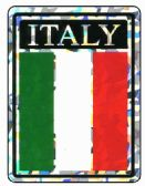 "96 Units of 3"" x 4"" Decal, Italy, - Stickers"