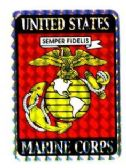 "96 Units of 3"" x 4"" decal, U.S. Marine Corps - Stickers"