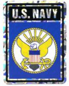 "96 Units of 3"" x 4"" decal, U. S. Navy - Stickers"