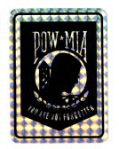 "96 Units of 3"" x 4"" Decal, POW-MIA, - Stickers"