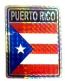 "96 Units of 3"" x 4"" Decal, Puerto Rico - Stickers"