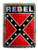 "96 Units of 3"" x 4"" Rebel decal - Stickers"