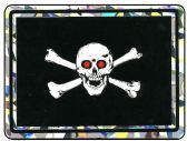 "96 Units of 3"" x 4"" Decal, Jolly Roger with red eyes - Stickers"