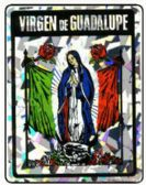 "96 Units of 3"" x 4"" Decal, Virgen de Guadalupe - Stickers"