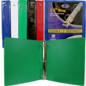 """36 Units of 1.5"""" Hard Cover (PVC Free) 3-Ring Binder with 2 Pockets - Office Supplies"""