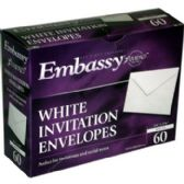 "24 Units of White Invitation Envelopes - 60 ct - 4 3/8"" x 5 3/4"" - Envelopes"
