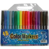 48 Units of Watercolor Markers - 18 pack - assorted colors - Markers and Highlighters