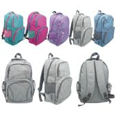 12 Units of Backpack Assorted Color - Backpacks 17""